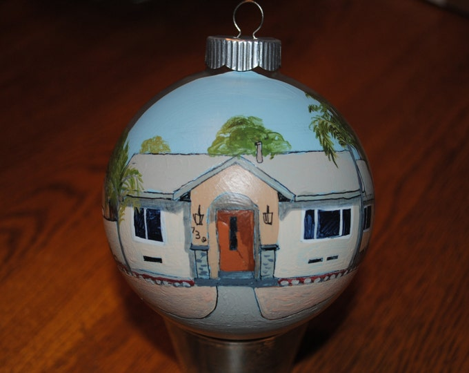 Hand Painted Custom Christmas Ornament - SOLD just for DISPLAY