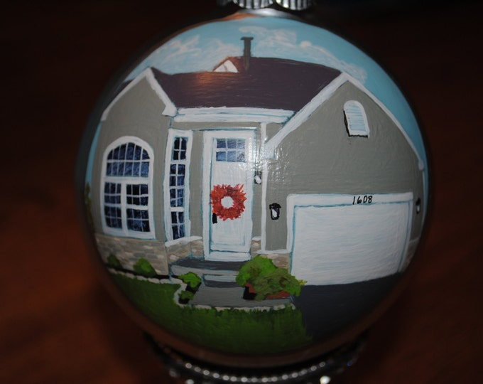 Custom First Home Ornament done from Picture      ------Sold--------