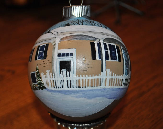 Custom Hand painted home ornament -sold