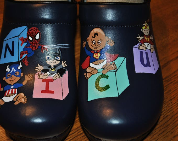 New Custom Hand Painted DC Marvel Babies for you nurses in NICU thank you.... sorry sold customer provided the shoes
