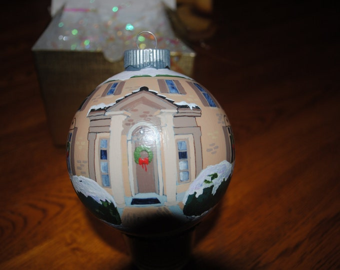 Custom Hand Painted Home of Memories Ornament great christmas gift, or Anniversary present.  SOLD