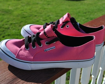 Pink Air Walk canvas sneakers READY for CUSTOM ORDER womens size 10