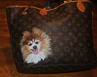 Custom Do your Lovely Doggie on LV Bag... sorry sold customer provided the bag.