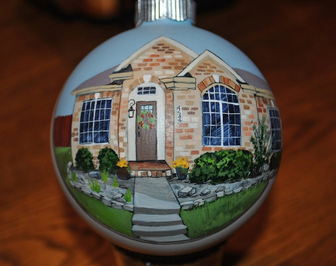 Custom Hand painted home ornament done from pictures - sold