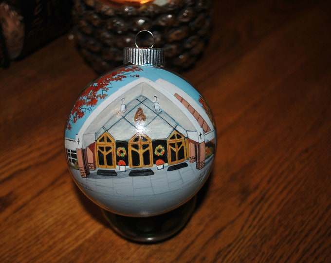 Saint Elizabeth Church Hand Painted Christmas Ornament  - sorry sold