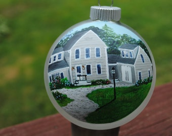 Custom Hand Painted Ornament Great for house warming gift or special occasion   SOLD