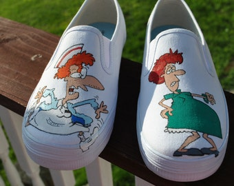 HEEEY HEY Labor and Delivery Nurses... these funny little sneakers were made just for you's.. SOLD.