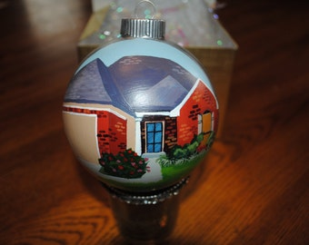 New Custom Hand Painted New Home Ornament  - sold