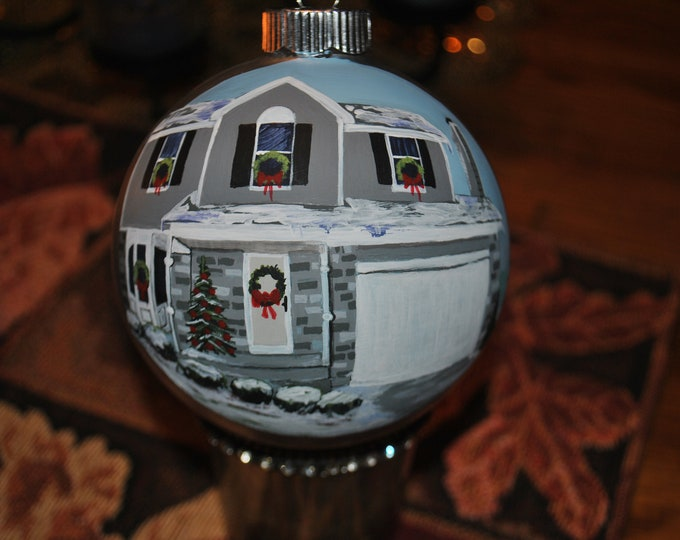 Custom Christmas hand painted ornament, christmas ornament, customized ornament, sorry sold