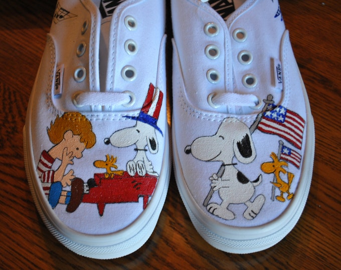 Snoopy 4th of July Celebrations Vans  ---- SORRY SOLD