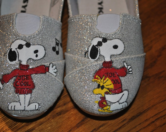 New Design Cute and Fun Joe Cool Snoopy on toddler size 7 - SOLD