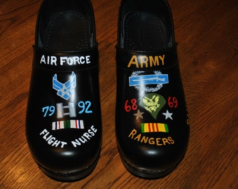 Custom Military Memories of a seasoned Vet and Her beloved brother she lost to Vietnam,  sorry sold