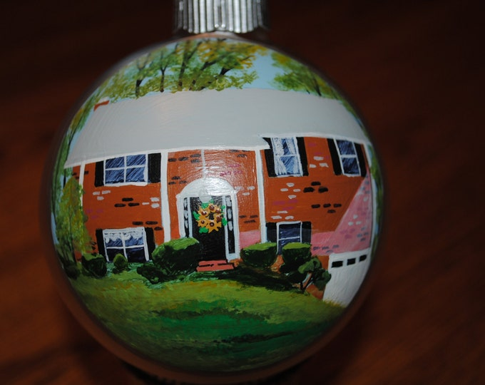 Hand Painted Home Ornament done from pictures ********* Sold ***********