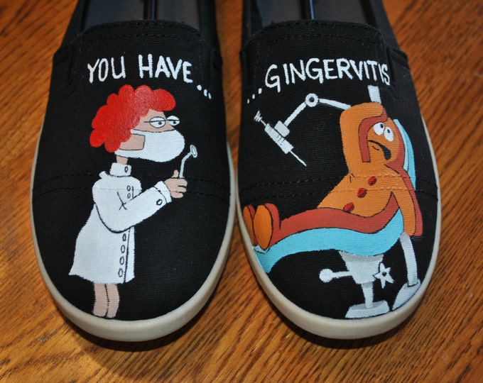 New Hand Painted Design for you Dental Asst. size 8.5 - SOLD