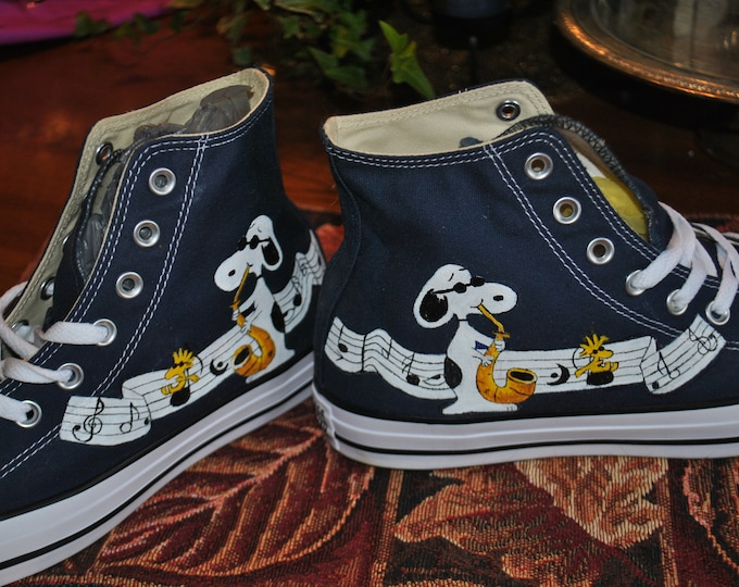 Custom Hand Painted High Tops Chuck taylor by converse shoes - sold