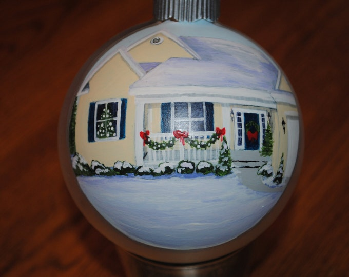 Hand Painted Custom Home ornament done from a picture - sold this is a sample