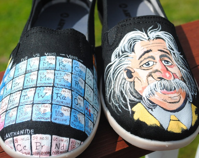 Chemistry periodic table and Albert Einstein With Quote size 9W - SOLD