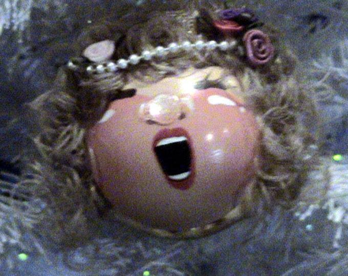Hand painted Cute Christmas Angel Blondie Bell