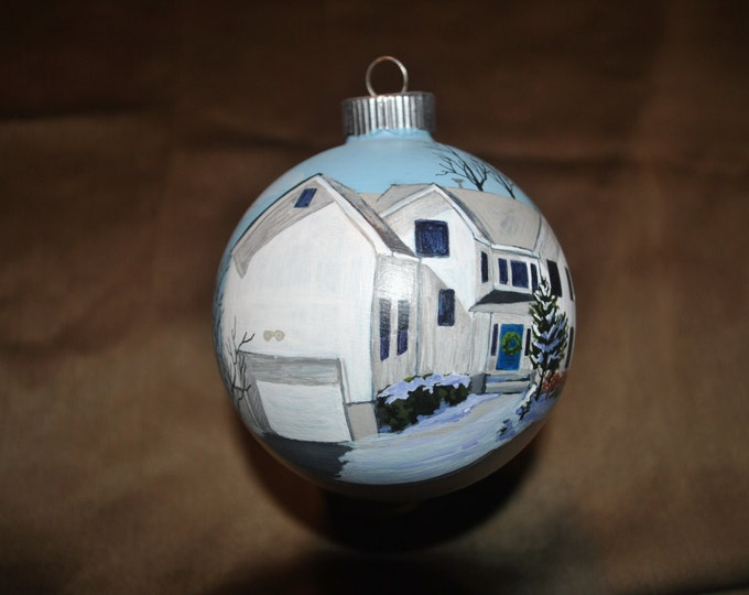 Custom Hand Painted Home Ornament done from picture   -  sold