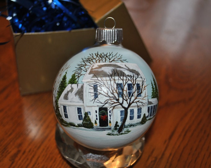 Custom Hand Painted Home ornament for a unique Christmas or Birthday gift