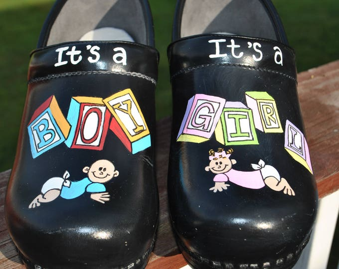 New NP nurses shoes It's a Boy It's a Girl custom art work.. sorry sold shoes included in price