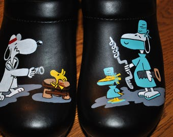 Custom Brain Surgeon shoes... very funny, hand painted nursing shoes, hand painted doc shoes  - sold customer provides the shoes