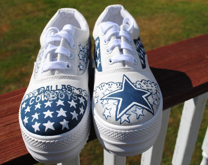 New Platform Dallas Cowboy sneakers made to order size 6,  Note: not for sale
