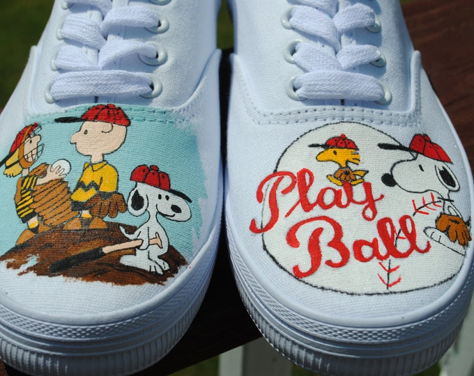 Hey Peanuts Gang Let's Play Ball... New Peanuts baseball design...size 7 sorry sold