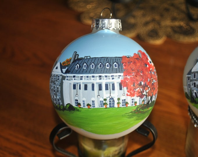 Custom Hand Painted Memories Ornament for Wedding Thank you's Roaring Gap, Graystone Inn... sold sorry