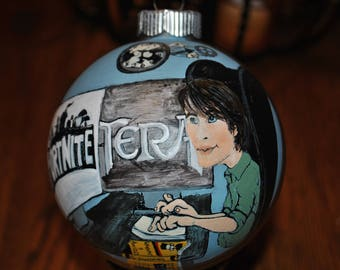 Custom Memory Ornament ,hand painted ornament, done from pictures....sold