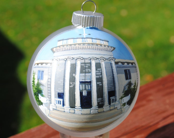 Custom Hand Painted Ornament Great for wedding remembrance Institute of Science Washington DC  -  Sold