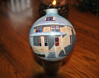Custom Hand Painted Home ornament done from picture   SOLD
