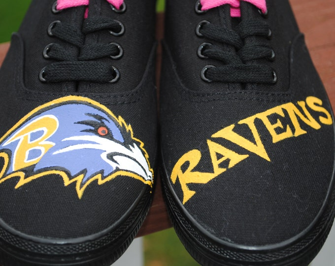 New Baltimore Ravens sneakers size 7.5 - SOLD
