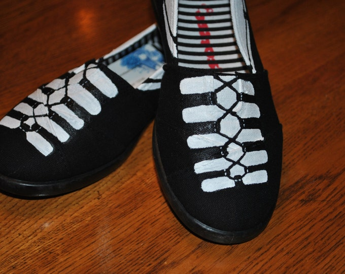 Custom Order for Hand Painted Ghillies Dance shoes size 12 and size13 - sold