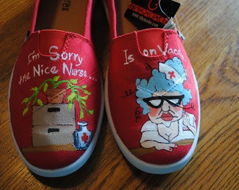 "For Sale size 9 "" I'm sorry the Nice Nurse.... Is on Vacation.. Nurses shoes.."