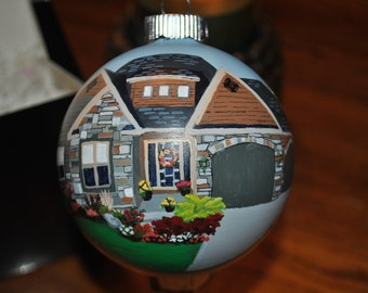 Custom Hand Painted 4 inch Home Ornament sorry sold