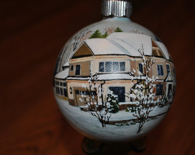 Custom Hand Painted Home Ornament done from picture for a Unique Christmas or Birthday gift idea SOLD