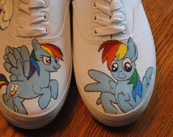 New Rainbow Pony Dasher hand painted custom Shoes - NOTE THIS is a sample - SOLD