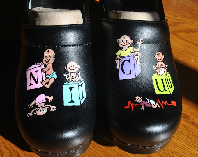 NICU Babies gone wild on blk dansko's Customer provided the shoes  - sold
