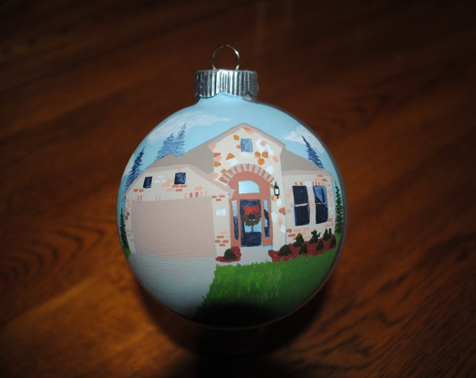 Custom Hand Painted Home Ornament Our First Home ---- sold