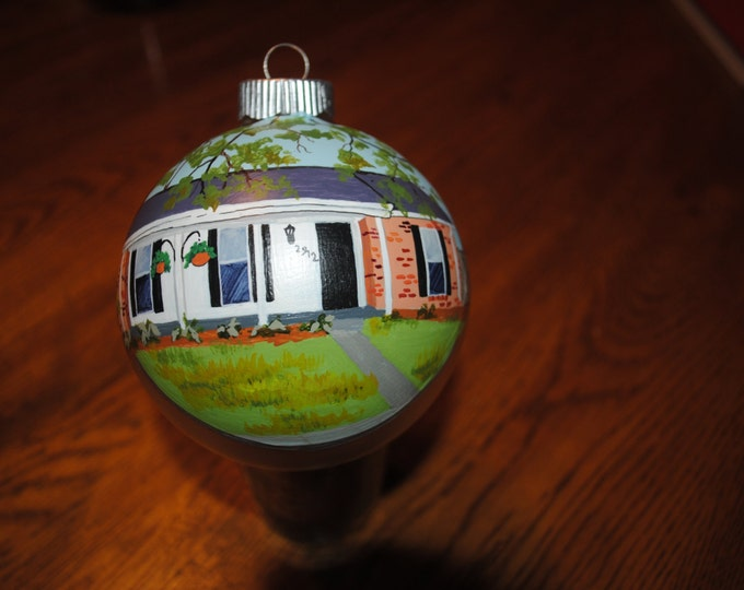 Our First Home Hand Painted Ornament done from Picture... sorry sold