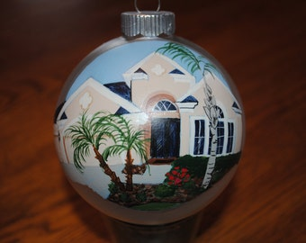 Custom Hand Painted Home Ornament done from picture  ***SOLD ****