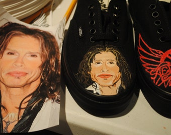 New Design Steven Tyler and Areosmith Design  on .Vans womens size 9.5 === sorry SOLD