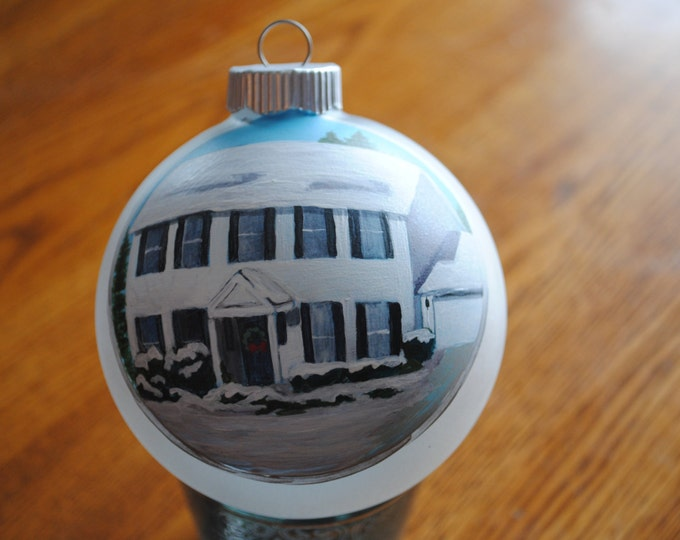 Our First Home Custom Hand Painted Ornament - sample this item is sold