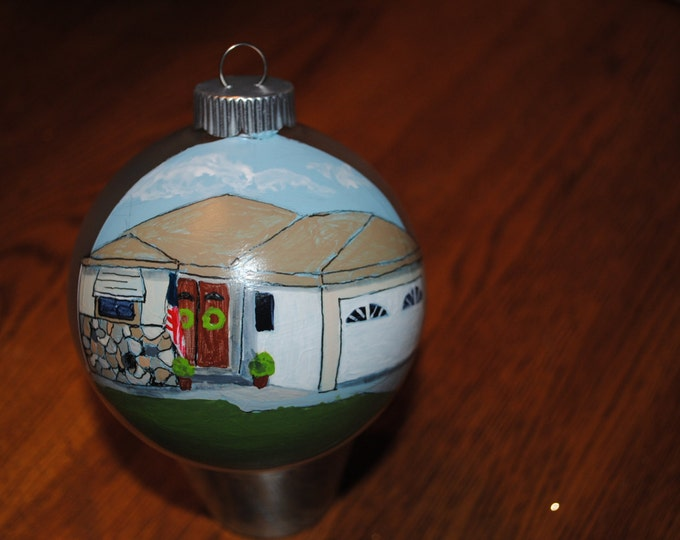 Custom Hand Painted Housewarming gift or great christmas gift - SOLD  display only