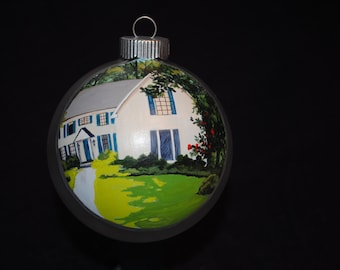 Custom Hand Painted Home Ornament done from Picture for Unique gift   - SOLD