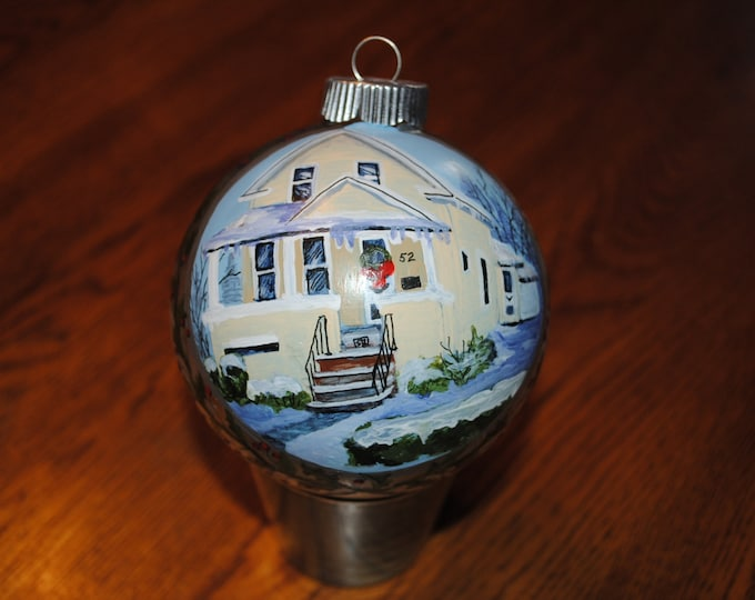 Custom Home Hand Painted Ornament great Christmas gift or housewarming- not for sale just display