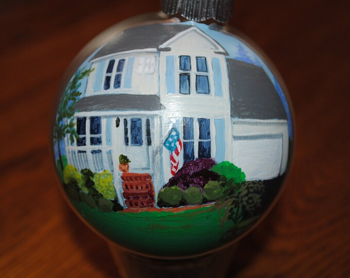 Our First Christmas Hand Painted home Ornament 2015 - sold  just for display