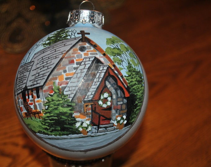Custom Hand painted Chapel Ornament,  Custom Ornamnet, Custom hand painted Memory ornament  sorry sold