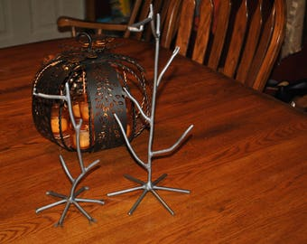 "For SALE Hand Forged Metal Ornament stand, Ornament Holder,  10"" and 14.5 "" Holders  For Sale"